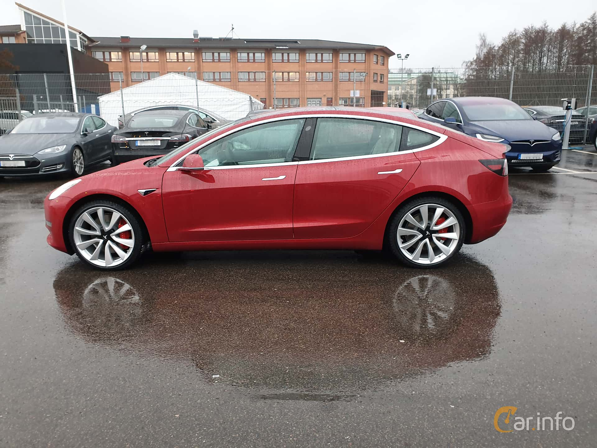 Sida av Tesla Model 3 Performance 75 kWh Single Speed, 462ps, 2019