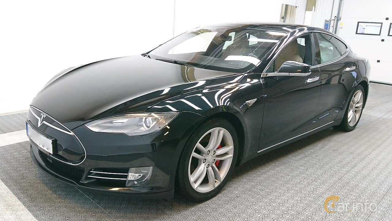 Fram/Sida av Tesla Model S P85D 85 kWh AWD Single Speed, 511ps, 2015