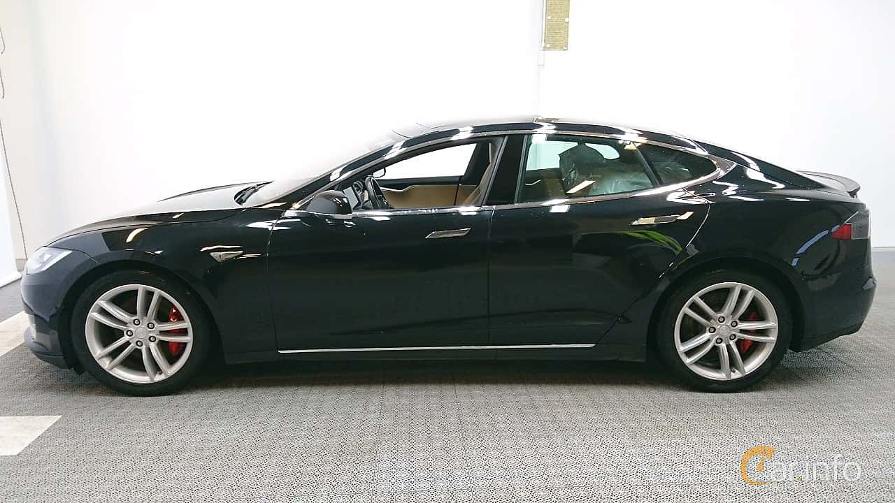 Sida av Tesla Model S P85D 85 kWh AWD Single Speed, 511ps, 2015