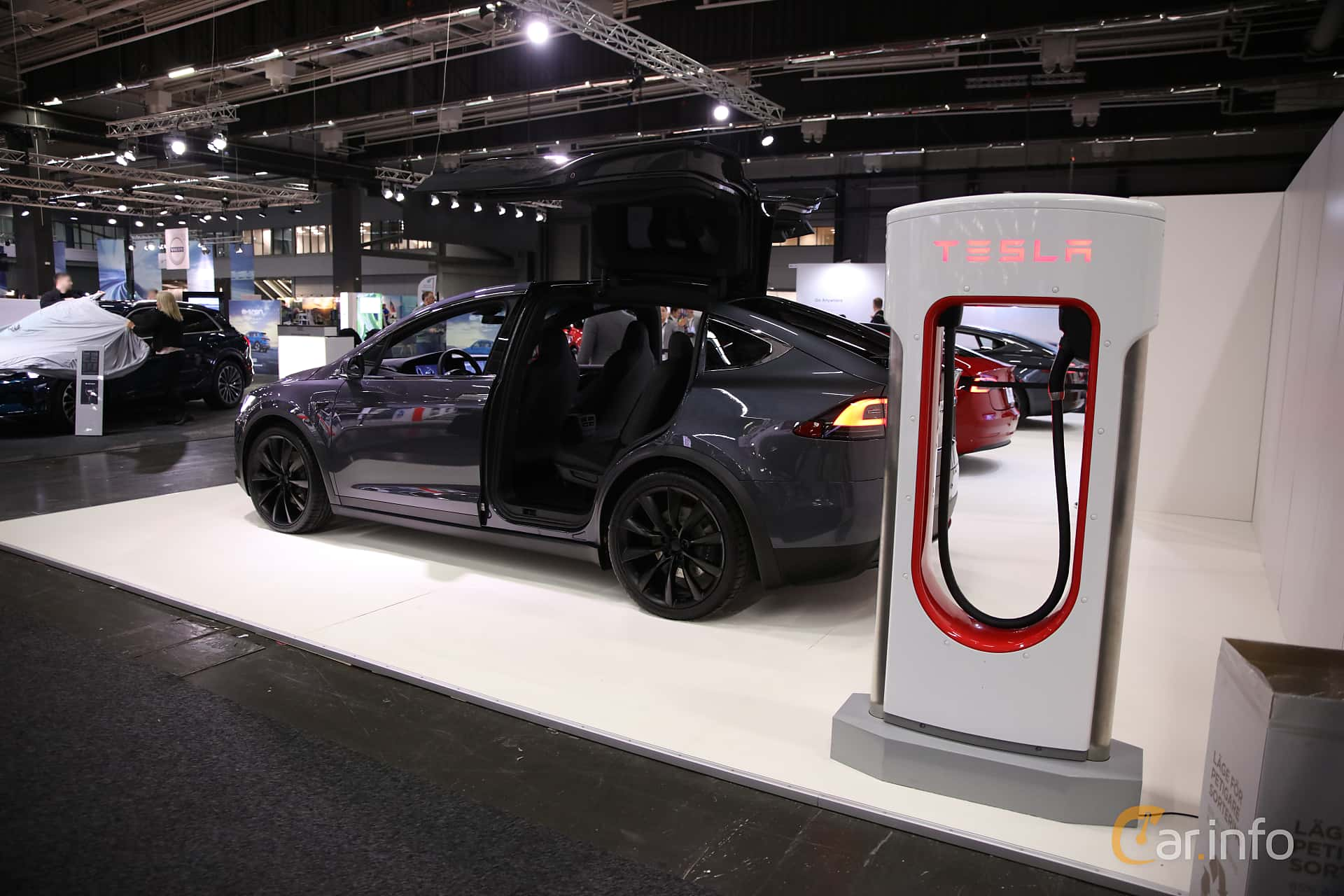 Tesla Model X 100D 100 kWh AWD Single Speed, 423hp, 2018 at eCar Expo Göteborg 2018