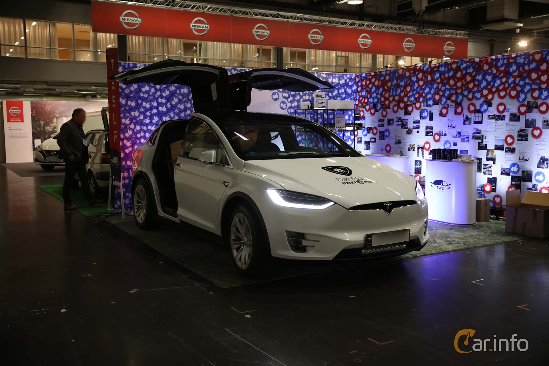 Tesla Model X 90D 90 kWh AWD Single Speed, 423hp, 2016 at eCar Expo Göteborg 2018