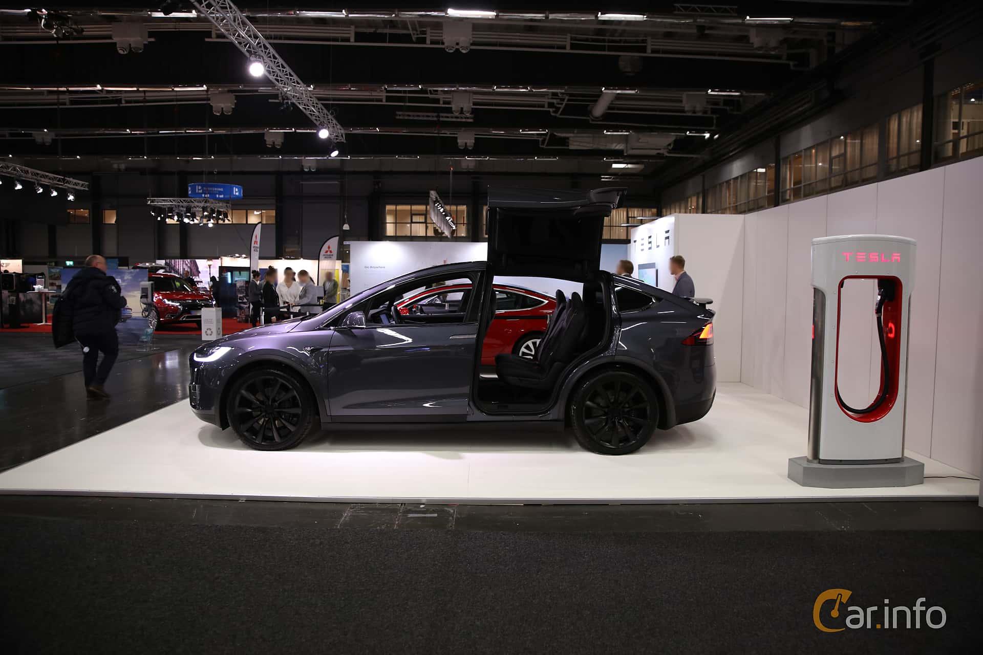 Tesla Model X 100D 100 kWh AWD Single Speed, 423hp, 2018 at eCar Expo Göteborg 2018