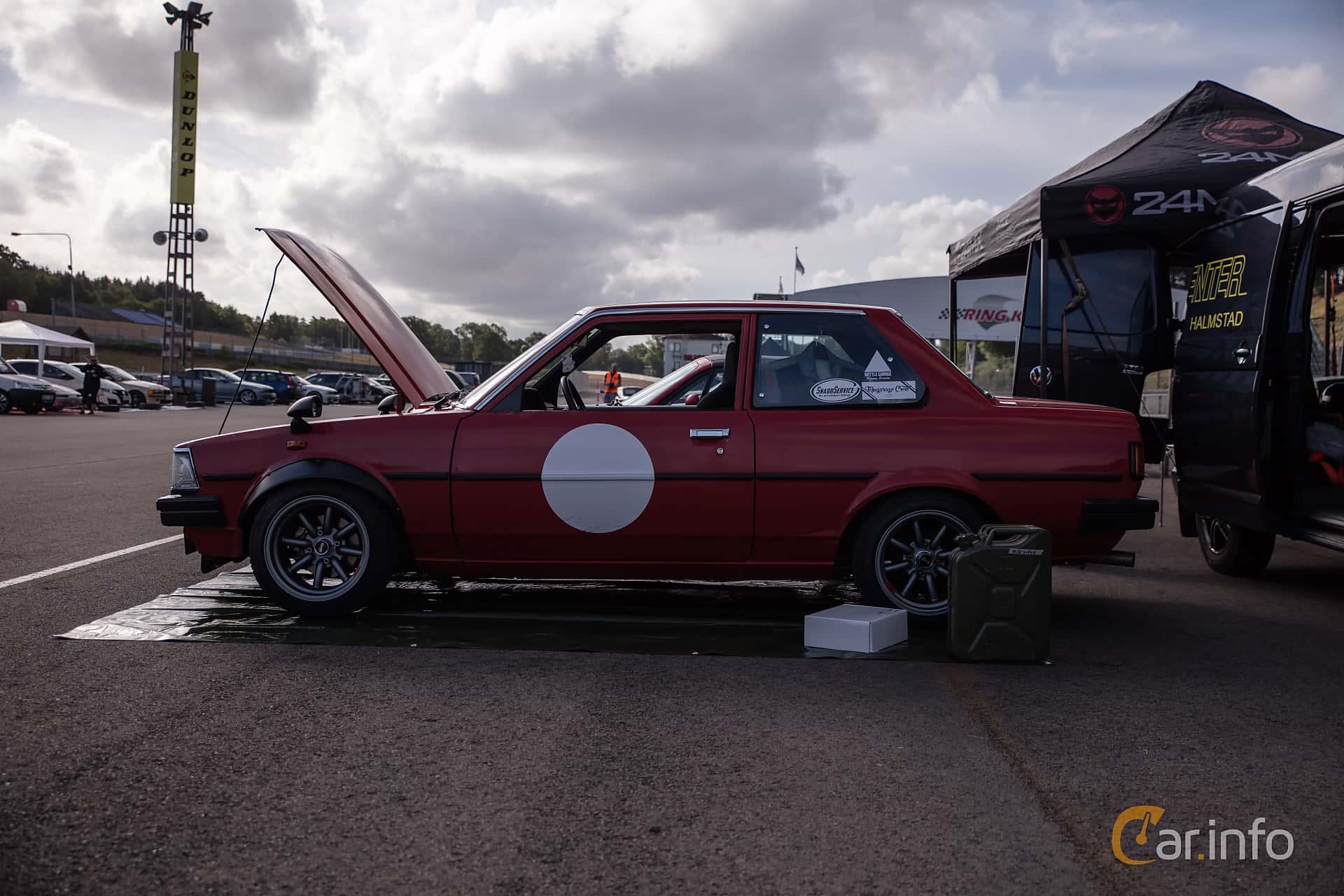 Toyota Corolla 2-door Sedan 1.3 Manual, 60hp, 1982 at JapTuning Trackday 2018 Knutstorp