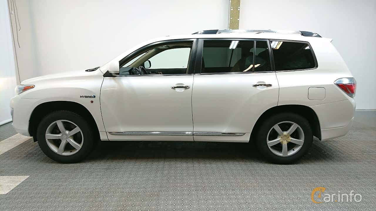Side  of Toyota Highlander 3.5 V6 Hybrid AWD Automatic, 248ps, 2011