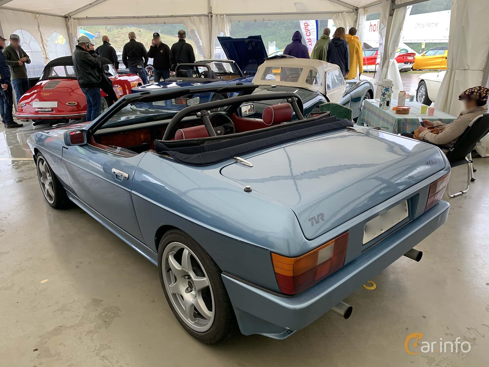 TVR 350i Convertible 3.5 V8 Manual, 193hp, 1985 at Svenskt sportvagnsmeeting 2019