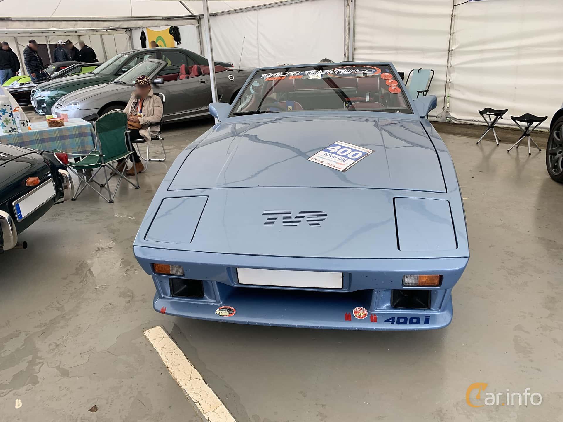 Front  of TVR 350i Convertible 3.5 V8 Manual, 193ps, 1985 at Svenskt sportvagnsmeeting 2019