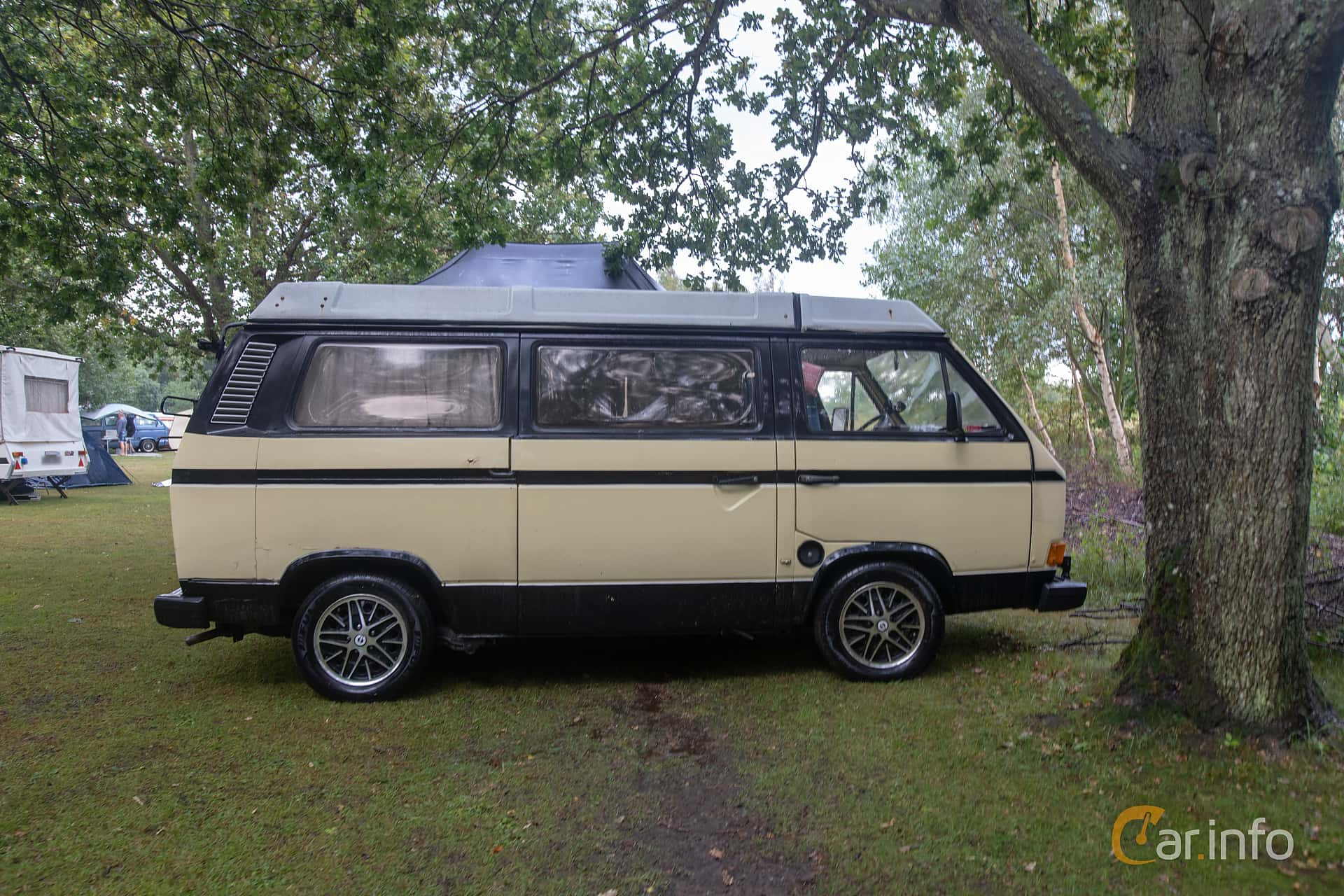 Side  of Volkswagen California 1.6 D Manual, 50ps, 1983 at West Coast Bug Meet 2019