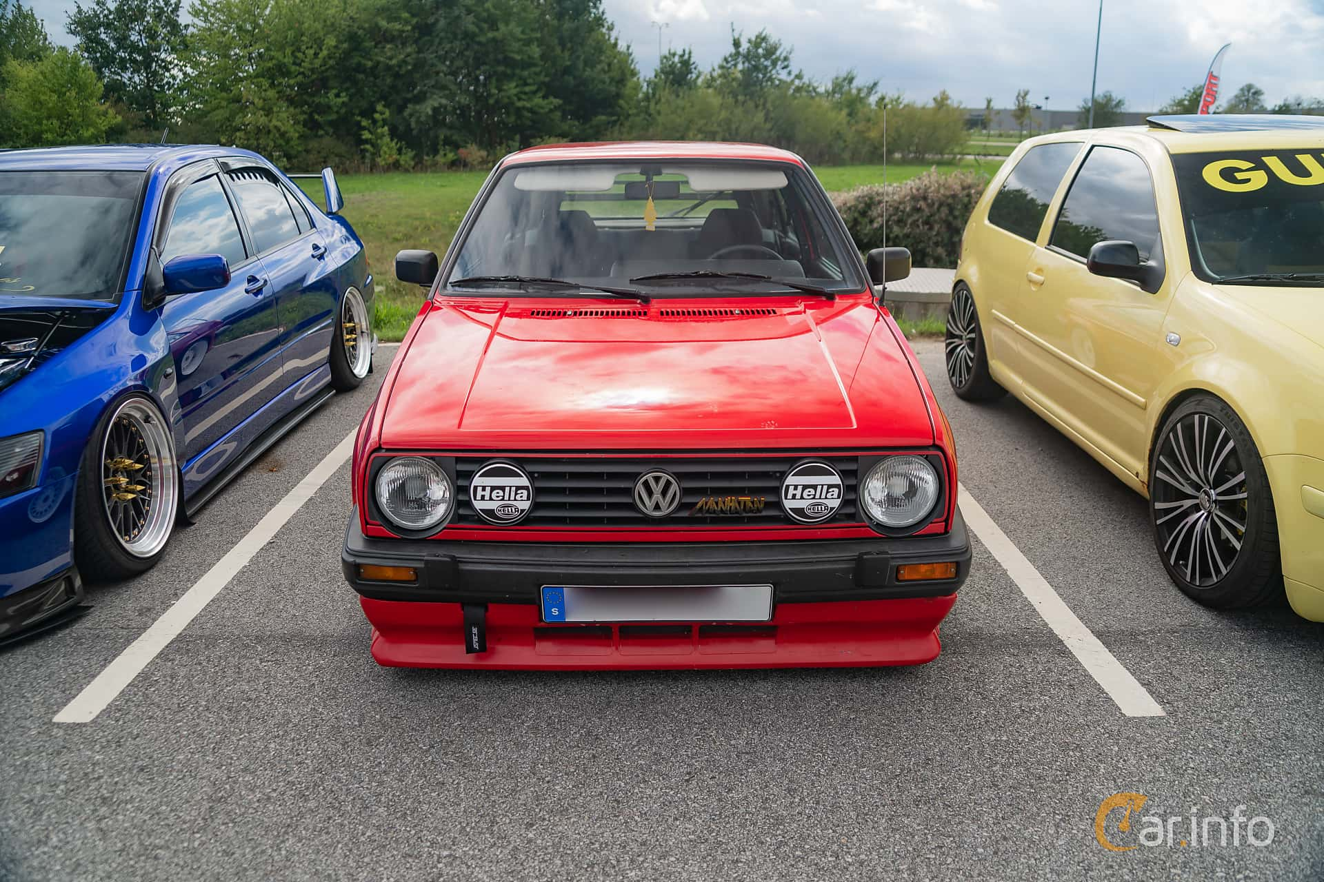 Front of Volkswagen Golf 3-door 1.8 Manual, 90ps, 1989 at Biltema Gatbilar