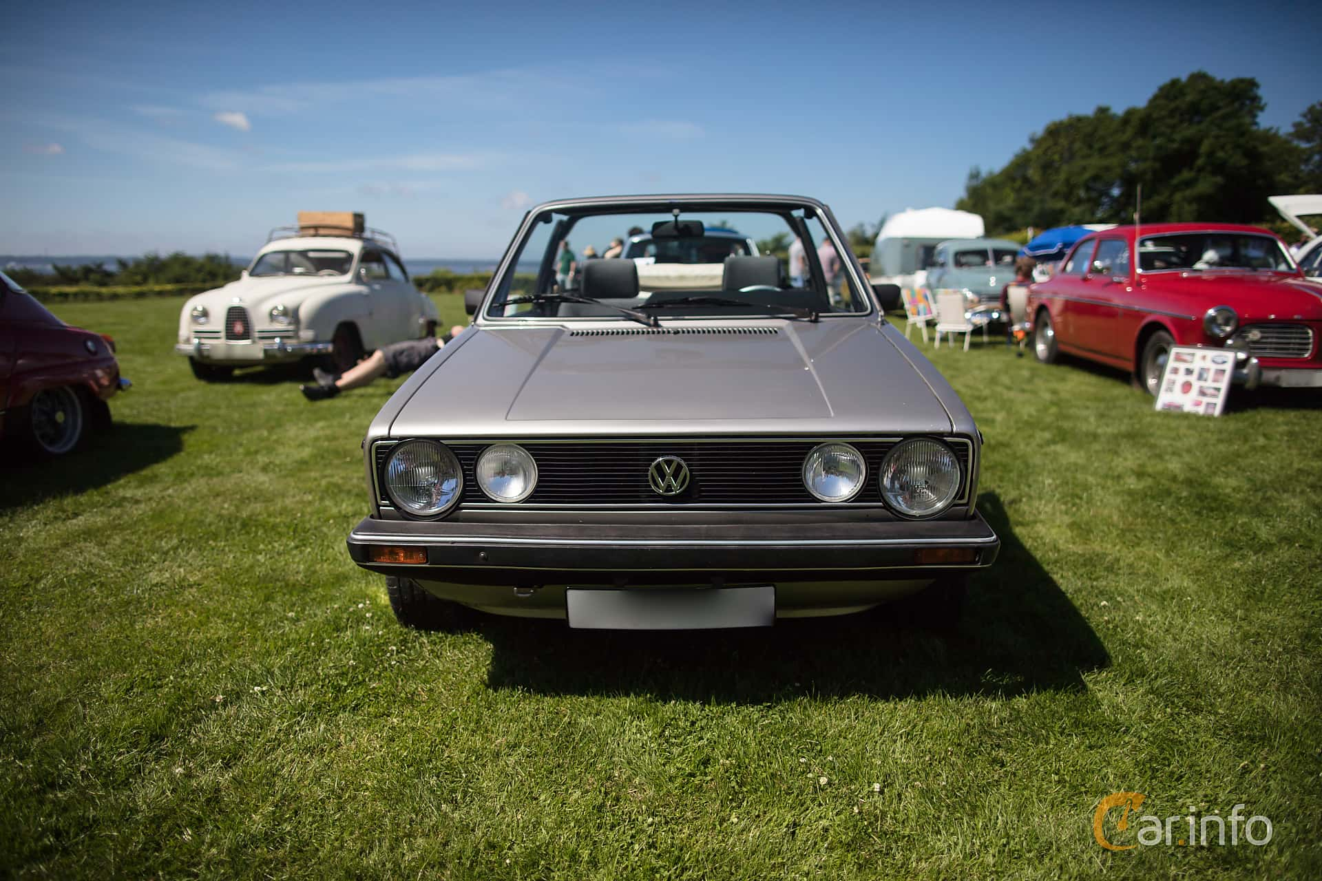 Front of Volkswagen Golf Cabriolet 1.8 Manual, 98ps, 1986 at Sofiero  Classic 2017