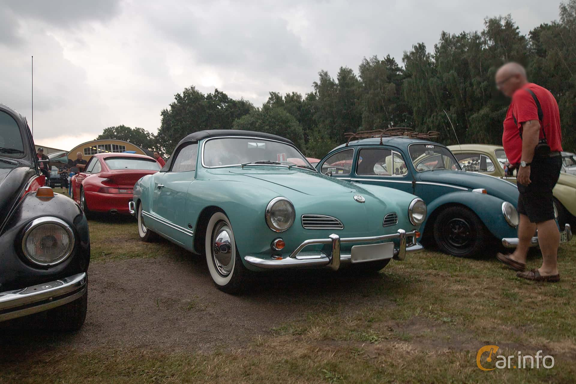 Front/Side  of Volkswagen Karmann-Ghia 1200 Cabriolet 1.2 Manual, 30ps, 1957 at West Coast Bug Meet 2019