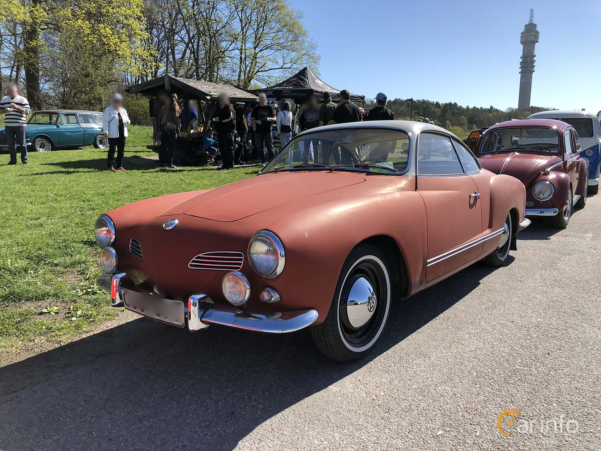 3 Images Of Volkswagen Karmann Ghia 1200 12 Manual 30hp 1960 By Front Side 30ps At
