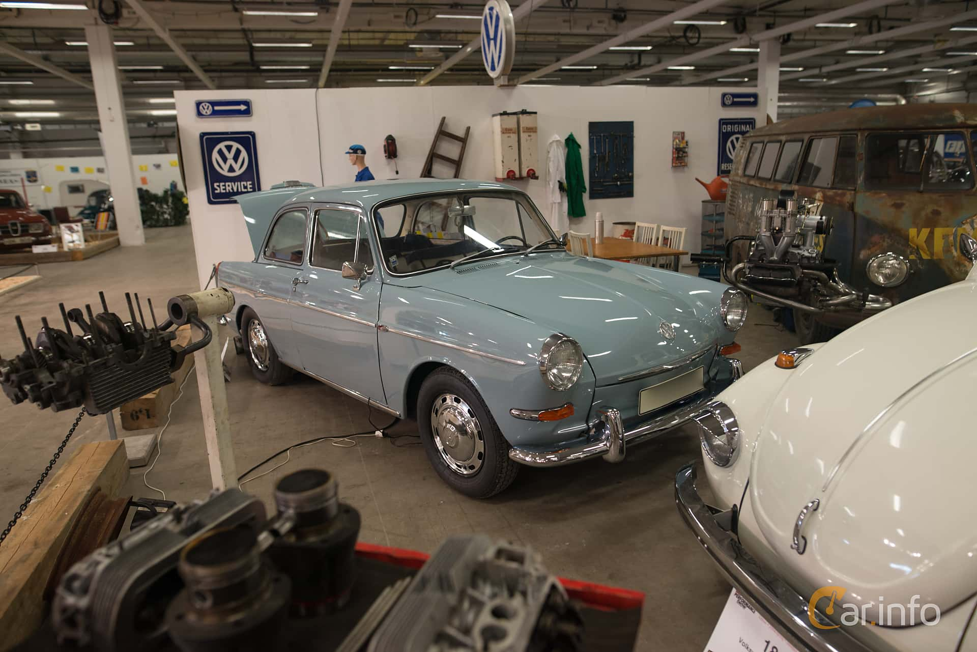 Front/Side of Volkswagen 1500 1.5 Manual, 54ps, 1965 at Bilsport  Performance &