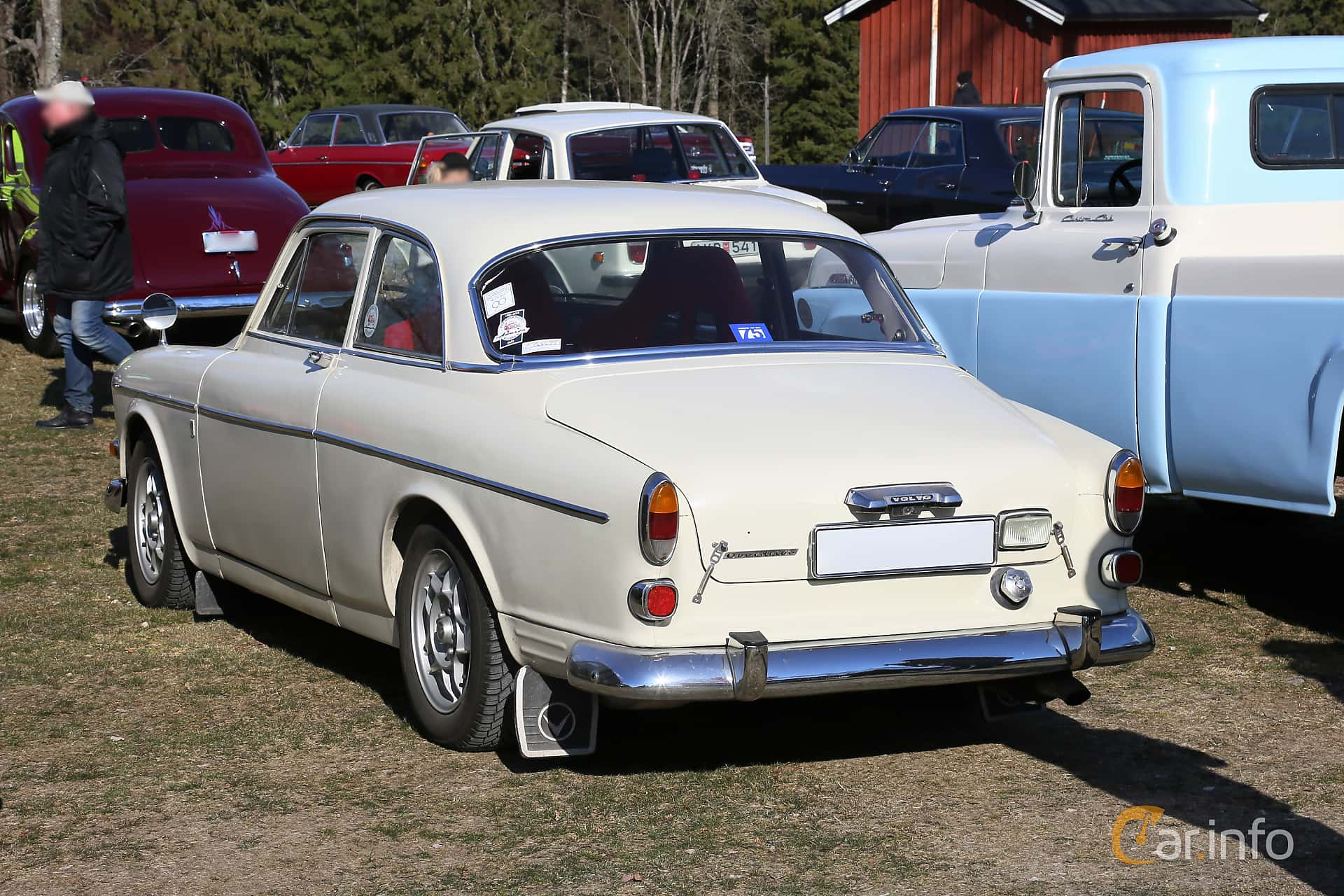 Back/Side of Volvo Amazon 121 P130 1.8 Manual, 75ps, 1968 at Uddevalla Veteranbilsmarknad Backamo, Ljungsk 2019