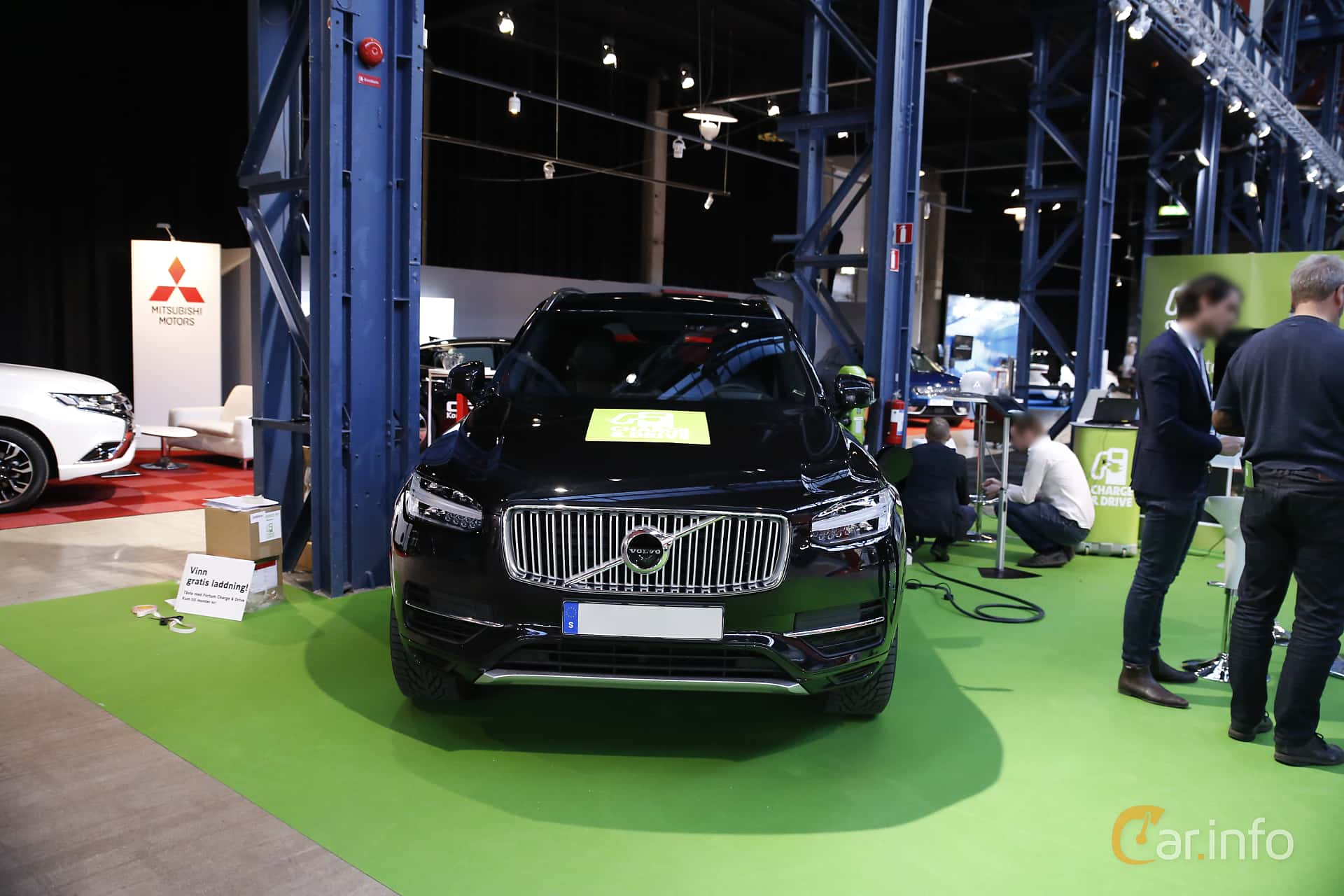 Front  of Volvo XC90 T8 AWD Geartronic, 407ps, 2017 at eCar Expo Göteborg 2016