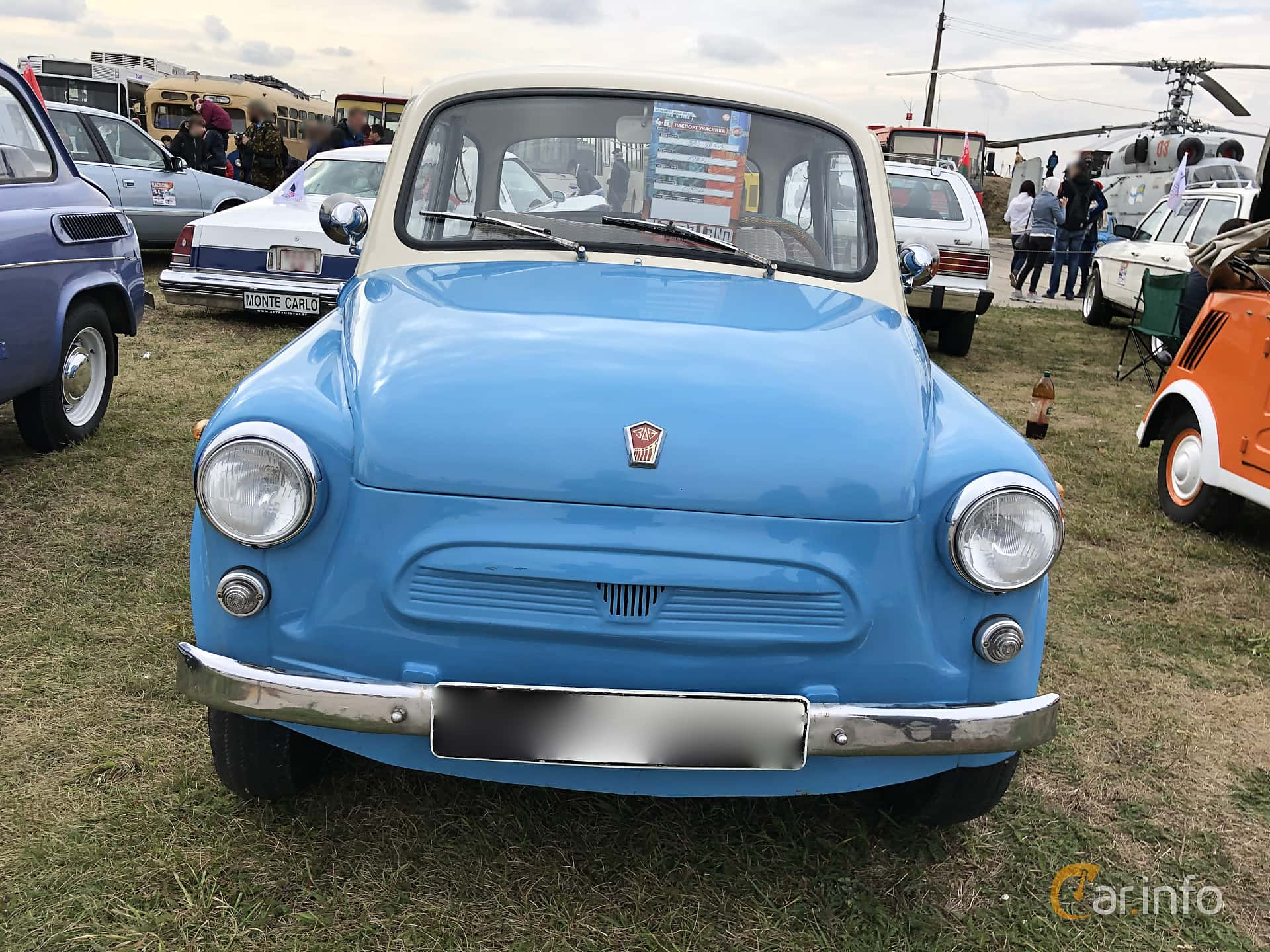 Front  of ZAZ 965 0.75 V4 Manual, 23ps, 1960 at Old Car Land no.2 2019
