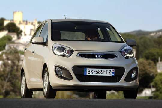 Front/Side  of Kia Picanto 5-door 2011