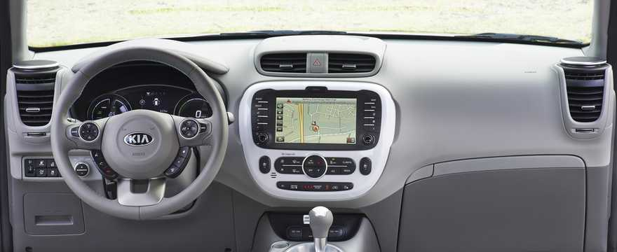 Interior Of Kia Soul EV 27 KWh Single Speed, 110hp, 2015