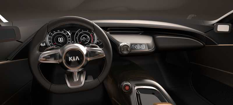 Interior of Kia GT 3.3 V6 Automatic, 395hp, 2011