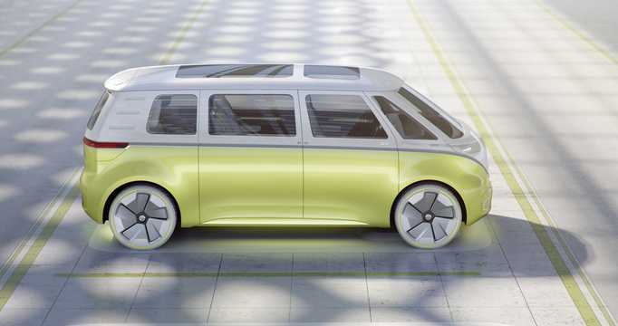 Side  of Volkswagen I.D Buzz Concept Concept, 2017
