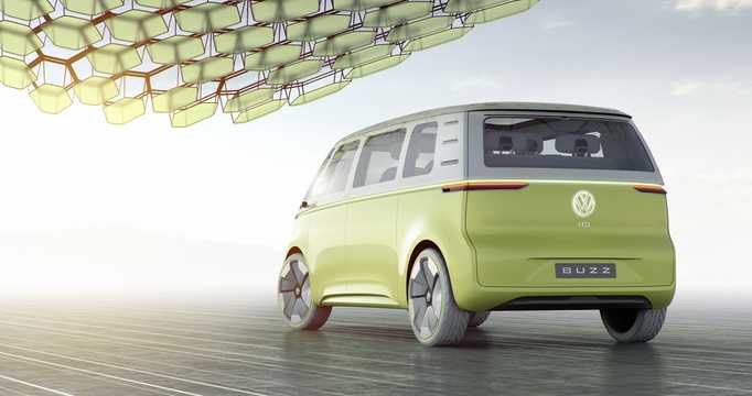 Back/Side of Volkswagen I.D Buzz Concept Concept, 2017