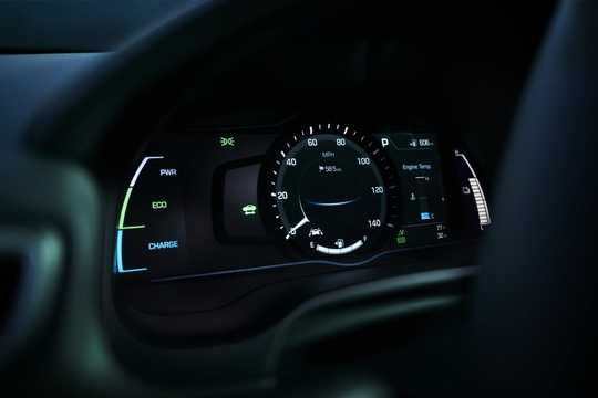 Interior of Hyundai Ioniq Hybrid 1.6 DCT, 6-speed, 141hp, 104kW, 2017