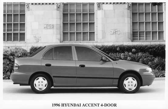 Side  of Hyundai Accent Sedan 1996