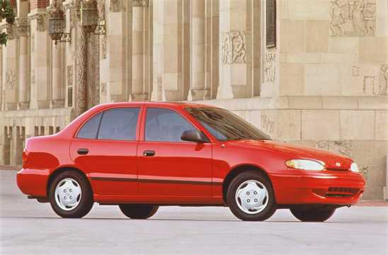 Front/Side  of Hyundai Accent Sedan 1996