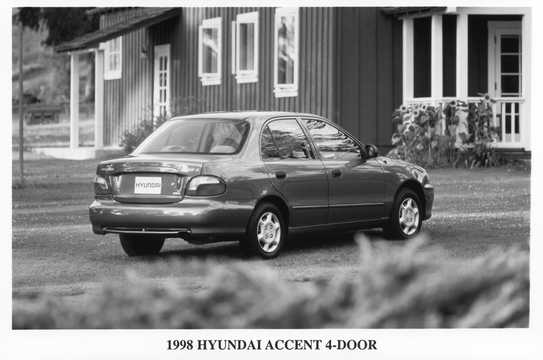 Back/Side of Hyundai Accent Sedan 1998
