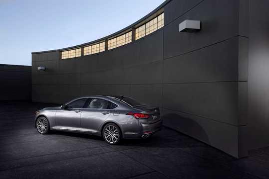 Back/Side of Hyundai Genesis 2016