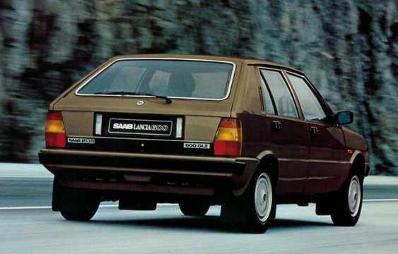 Back/Side of Saab Lancia 600 1.5 Manual, 1980