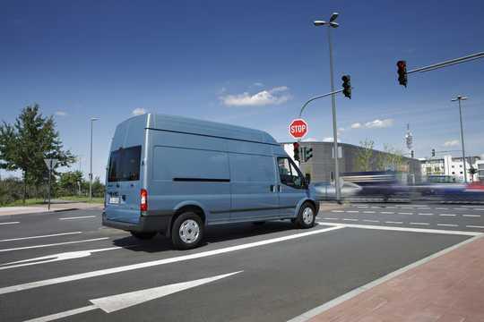 Back/Side of Ford Transit 4-door Van 2012
