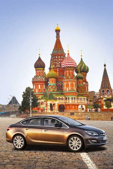 Front/Side  of Opel Astra Sedan 2013