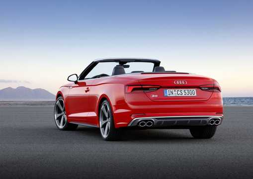 Back/Side of Audi S5 Cabriolet 3.0 TFSI V6 quattro TipTronic, 354hp, 2017