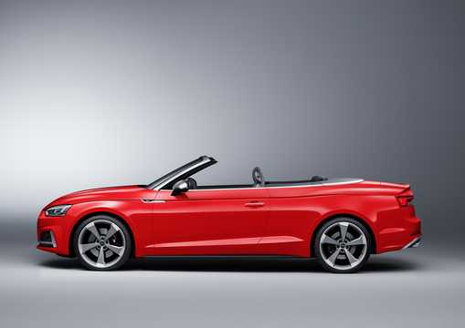 Side  of Audi S5 Cabriolet 3.0 TFSI V6 quattro TipTronic, 354hp, 2017