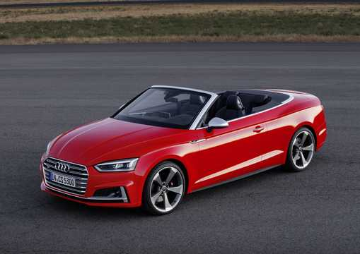 Front/Side  of Audi S5 Cabriolet 3.0 TFSI V6 quattro TipTronic, 354hp, 2017