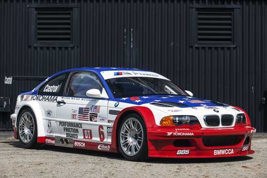 Front/Side  of BMW M3 GTR 4.0 V8 Manual, 450hp, 2001