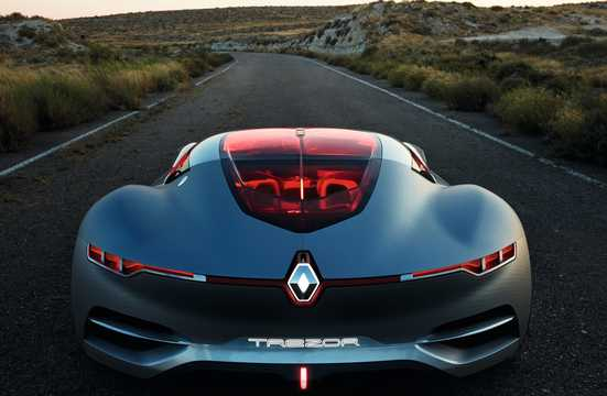 Back of Renault Trezor Electric Concept, 353hp, 2016