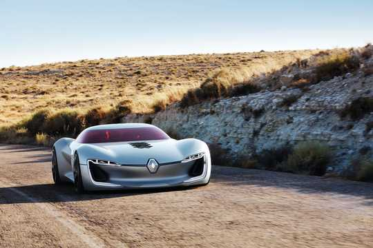 Front/Side  of Renault Trezor Electric Concept, 353hp, 2016