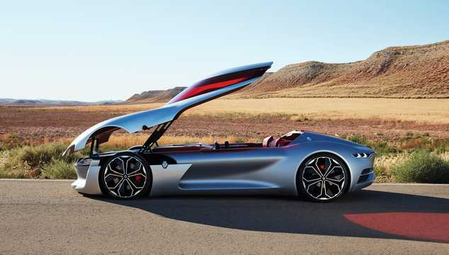 Side  of Renault Trezor Electric Concept, 353hp, 2016