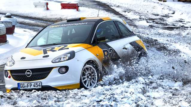 Front/Side  of Opel Adam R2 1.6 Sequential, 5-speed, 190hp, 140kW, 2016