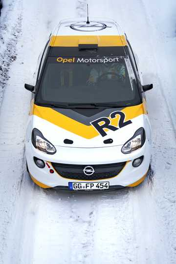Front  of Opel Adam R2 1.6 Sequential, 5-speed, 190hp, 140kW, 2016