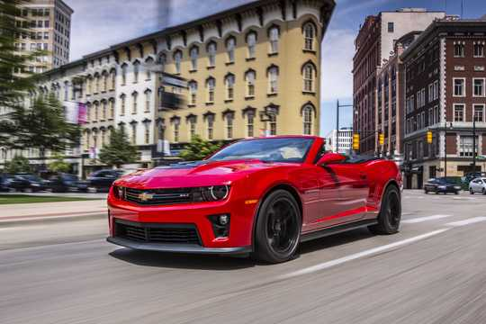 Front/Side  of Chevrolet Camaro ZL1 Convertible 6.2 V8 Automatic, 587hp, 2013