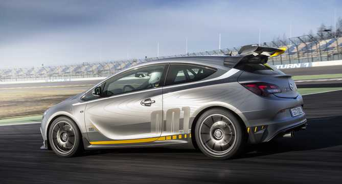 Back/Side of Opel Astra OPC Extreme 2.0 Turbo Manual, 306hp, 2014
