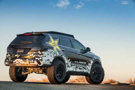 Back/Side of Hyundai Rockstar Santa Fe 3.3 GDi 4WD Concept, 294hp, 2016