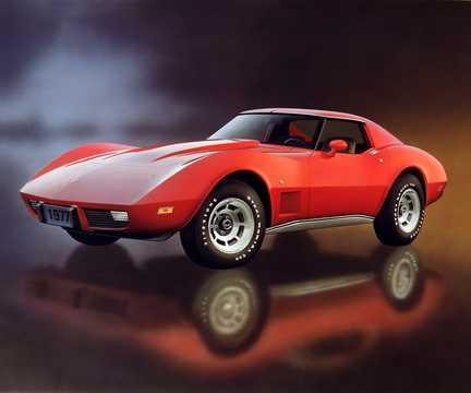 Front/Side  of Chevrolet Corvette Stingray 1977