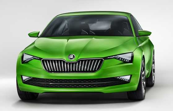 Front/Side  of Skoda Vision C 1.4 TSI Concept, 110hp, 2013