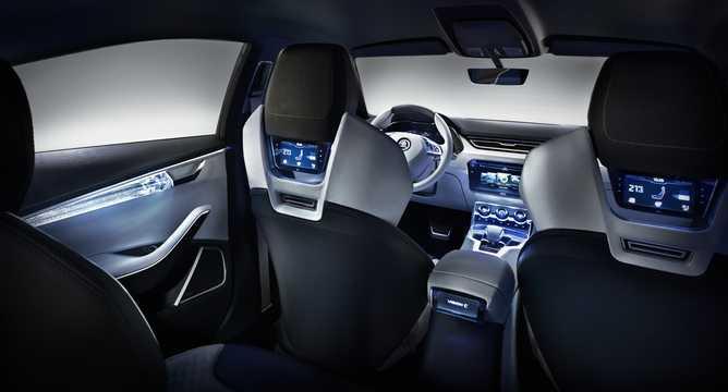 Interior of Skoda Vision C 1.4 TSI Concept, 110hp, 2013