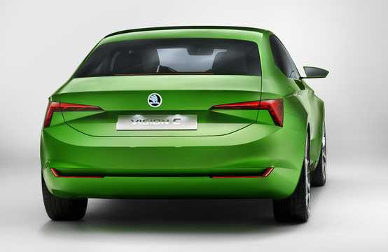 Back/Side of Skoda Vision C 1.4 TSI Concept, 110hp, 2013