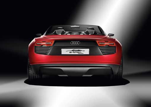 Bak av Audi e-tron Spyder 3.0 TDI V6 quattro S Tronic, 7 växlar, 475hk, 349kW, 2010