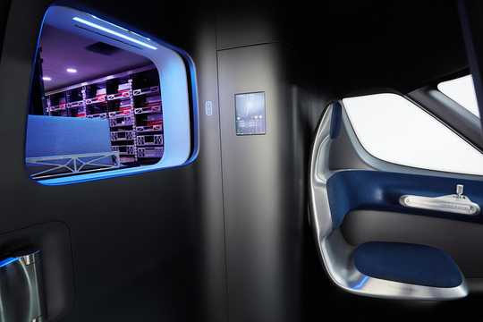 Interior of Mercedes-Benz Vision Van Electric Single Speed, 102hp, 2016